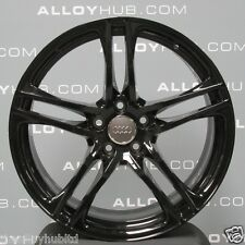 "GENUINE AUDI R8 V8/V10 19""INCH 5 TWIN SPOKE GLOSS BLACK PACK ALLOY WHEELS SET X4"