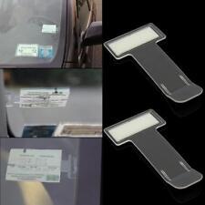 2x Auto Parkplatz Ticket Halter Clip Aufkleber Windschutzscheibe Fenster Kit NEU