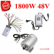 1800W 48V Brushless Electric + Motor + Controller Charger For E-Scooter Go Kart