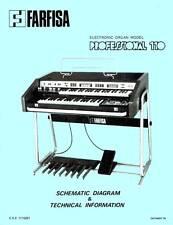 FARFISA Professional 110 Schematic Diagram Schaltplan Schematique Manual Repair