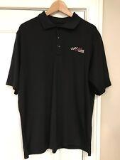 Joe Gibbs Racing Toyota Pit Crew Polo Golf Shirt Black Embroidered Large