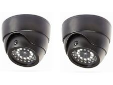 2 Dummy Security Cameras with Security Light Motion Activated LED Security Light