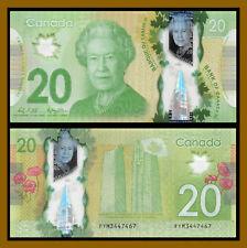 Canada 20 Dollars, 2012 P-108 BC-71 Queen Elizabeth II (QE II) Unc