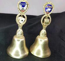 Las Vegas and Reno Nevada Souvenir Bells with Slot Machine and Blackjack Charms
