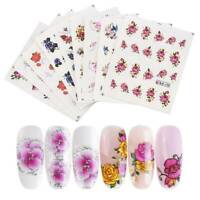 55 Sheets 3D Nail Art Transfer Stickers Flower Decals Manicure DIY Decors Tips