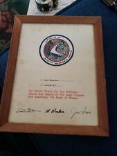 Achivement Award NASA Apollo 15 Autographed by Crew