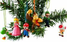 Super Mario Brothers 6 Piece Christmas Holiday Ornament Set Featuring Mario, and