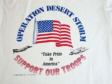 Vintage Operation Desert Storm Support Our Troops Military Army War T Shirt L