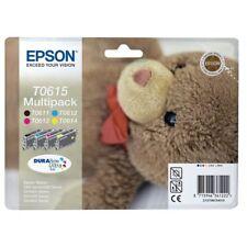 EPSON SERIE ORSETTO T0615 T0611 T0612 T0613 T0614 4 CARTUCCE ORIGINALI BK+C+M+Y