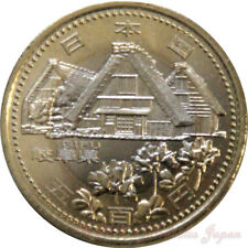 GIFU Prefecture Japan BIMETALLIC 500yen coin UNC 2010