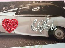 Red Heart and Soul Wedding Shoe Sticker Applique Rhinestone Post Free