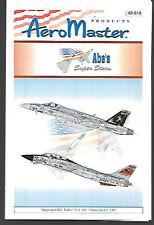 Aeromaster Abe's Super Stars F/A-18 & F-14 Italeri Hasegawa 1/48 Scale AN48618