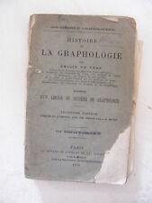 Histoire de la Graphologie Emilie de Vars 1879