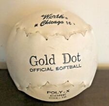 Vintage Gold Dot Official Softball Worth Leather Cover Poly-X-Core Csx-16 Plus
