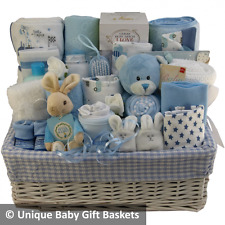 Beautiful deluxe large baby gift basket baby hamper boy baby shower nappy cake