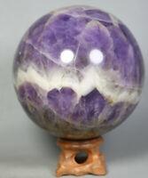 2.52lb Natural Dream Amethyst Quartz Crystal Gem Amethyst Sphere Ball Healing