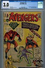 1963 Marvel Comics, The Avengers #2 CGC 3.0, Hulk leaves the Avengers?!