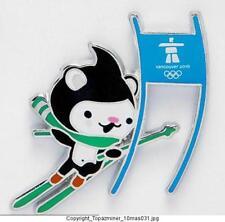OLYMPIC PINS 2010 VANCOUVER CANADA MASCOT MIGA SKIING