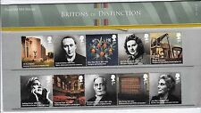 2012 Britons of Distinction Stamps in Presentation Pack no.467 10 x 1st Class