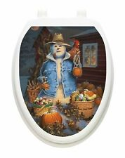 Toilet Tattoos Autumn Toilet Lid Cover Vinyl Cover Autumn Gathering