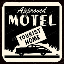 (VMA-G-1117) Approved Motel Tourist Vintage Metal Hospitality Retro Tin Sign