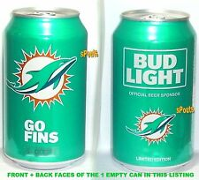 2017 MIAMI DOLPHINS BUD LIGHT NFL KICKOFF BEER CAN FLORIDA FINS FOOTBALL SPORTS