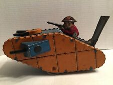 Louis Marx & Co 1930's Wide Toy Up Army Tank