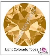 LIGHT COLORADO TOPAZ Swarovski 40ss 8.5mm Flatback Rhinestones 2028 12 pieces