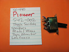 PIONEER S42-002 TOGGLE SWITCH ASSEMBLY SPEAKERS TAPE MON MODE LOUDNESS SX-440