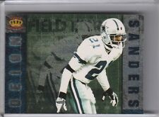 1996 PACIFIC CROWN ROYALE FF16 DEION SANDERS FIELD FORCE DALLAS COWBOYS HOF A055