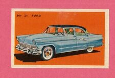 Ford Vintage 1950s Car Collector Card from Sweden