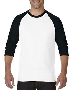 Gildan Heavy Cotton Adult 3/4 Three Quarter Three Quarter Raglan T-Shirt