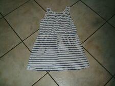 schönes Shirt Kleid H&M Gr.164/140 weiß blau Streifen