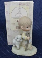 "New ListingPrecious Moments E1377R ""He Leadeth Me"" 1998 Porcelain Ltd Edition Figurine"