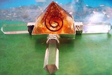 ORGONE BALTIC AMBER ENERGY GENERATOR PYRAMID WITH 4 CRYSTAL QUARTZ POINTS