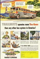 1951 Vintage ad for Trailways`Big Cream`Crimson Luxury Liners/Buses (041814)