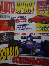 Auto & Sport ROMBO 11 1995 Doppio Michael Schumacher in Kart e in Benetton