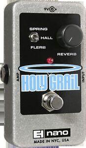 EHX Electro Harmonix Holy Grail Nano Reverb Guitar Effects Pedal / Stomp Box
