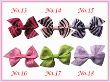 "50 BLESSING Girls Custom  Boutique 2/2.5"" Wing Bow + Hair Clip 248 No."