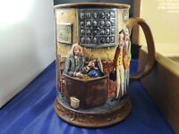 Royal Doulton Beswick CHARLES DICKENS CHRISTMAS CAROL Tankard Stein Mug 1973