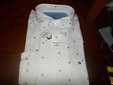 NWT MENS TOMMY HILFIGER SLIM FIT COMFORT WASH LONG SLEEVE BUTTON DOWN LARGE L
