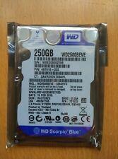 "Western Digital 2.5"" PATA IDE  250GB WD2500BEVE 5400RPM laptop hard disk drive"