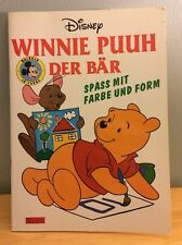 Vtg 1993 German Winnie the Pooh Coloring Activity Book Winnie Puuh