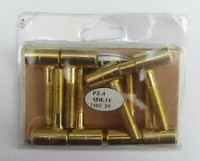 4 cerniere modello Anuba a vite maschio/femmina acciaio ottonato 14 mm cerniera