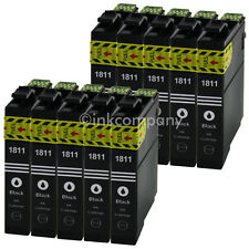 10 Tintenpatrone Druckerpatrone kompatibel zu EPSON T1811 XL BLACK BK mit Chip