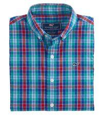 NWT Boys Vineyard Vines Whale Shirt Northern Shore Plaid Size L 16 New Button
