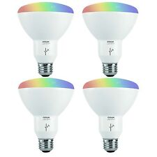 Sylvania Osram Lightify Smart Home 65W BR30 White/Color LED Light Bulb (4 Pack)