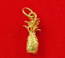 NEW 9ct Yellow Gold Pineapple Solid Charm Pendant Summer Fruit Tropical Hawaii