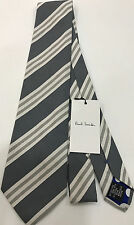 "Paul Smith MULTISTRIPE GREY Tie ""MAINLINE"" 9cm Blade Made in Italy"