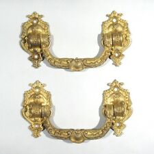 Pair of Antique FrenchGilded Bronze Drawer Pull Handles